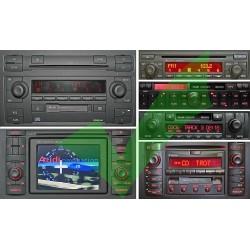 AUDI Chorus 2, Concert 1 / 2, Symphony 1/2, Navigation Plus 1/2 USB,SD, Bluetooth adapteris 8PIN WEFA