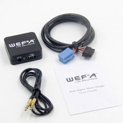 AUDI USB,AUX, adapteris 8PIN WEFA