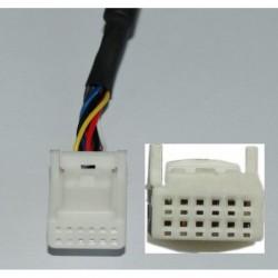 Lexus USB,AUX, adapteris 6+6PIN WEFA