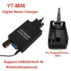 Citroen  MP3 USB/SD  MP3 adapteris YATOUR RD4