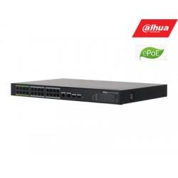 ePoE šakotuvas 100Mbps 24portu+2G uplink  + 2SFP, ePoE iki 800m, Hi-PoE