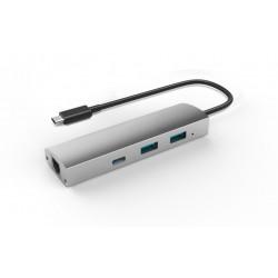 Adapteris USB 3.1 to 2-Port USB3.0 HUB + 1-Port USB3.1 with Gigabit Ethernet