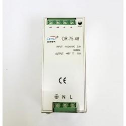Impulsinis maitinimo šaltinis 48V 75W tvirtinamas ant DIN bėgio
