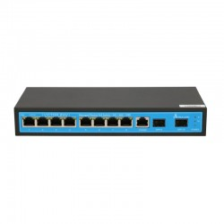 EXTRALINK 8x Gigabit Passive Managed 24V PoE Switch with 2 SFP ports VICTOR 24V