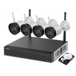 IMOU 4 pcs. 1080P H.265 Bullet Wi-Fi Cameras and 1TB NVR kit